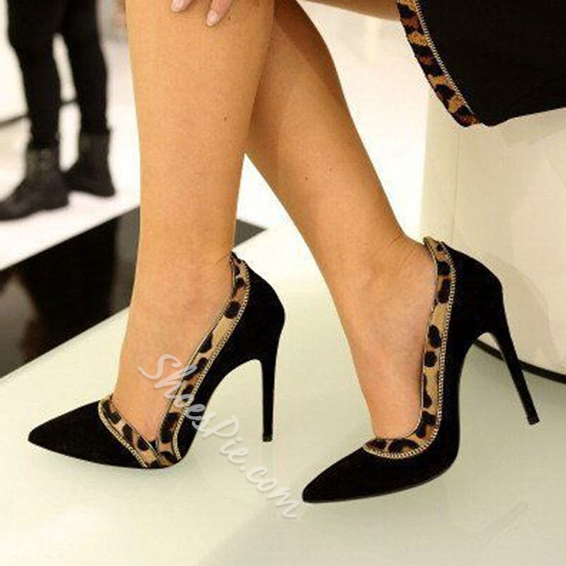 Shoespie Sexy Slip-On Pointed Toe Stiletto Heel Patchwork Thin Shoes