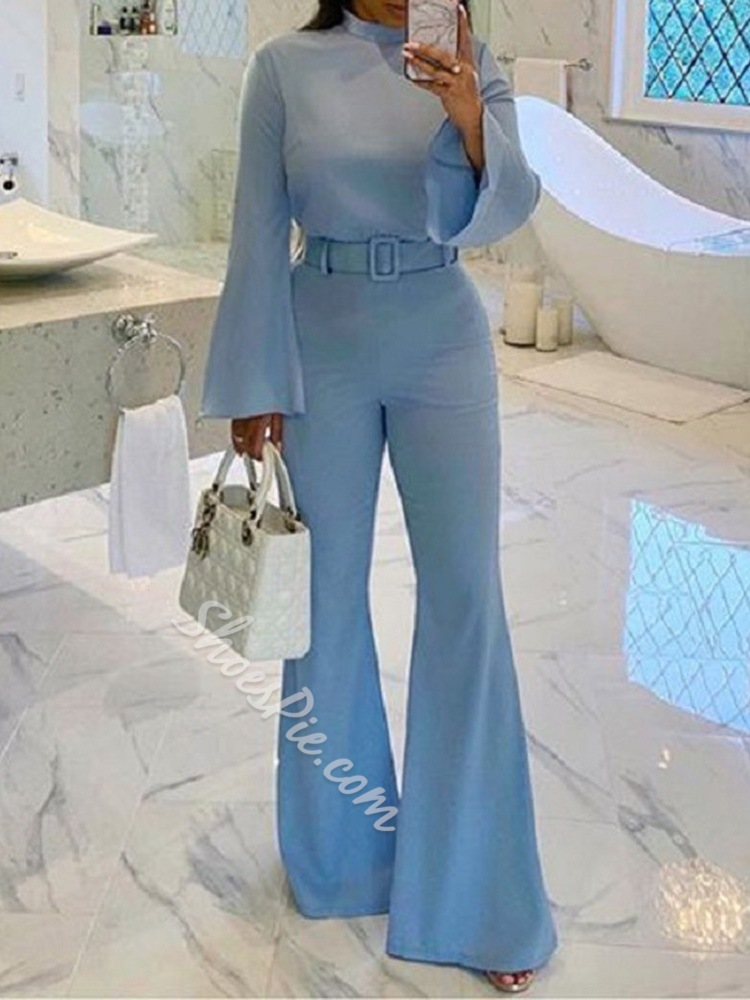Casual Plain Full Length Slim Women's Jumpsuit