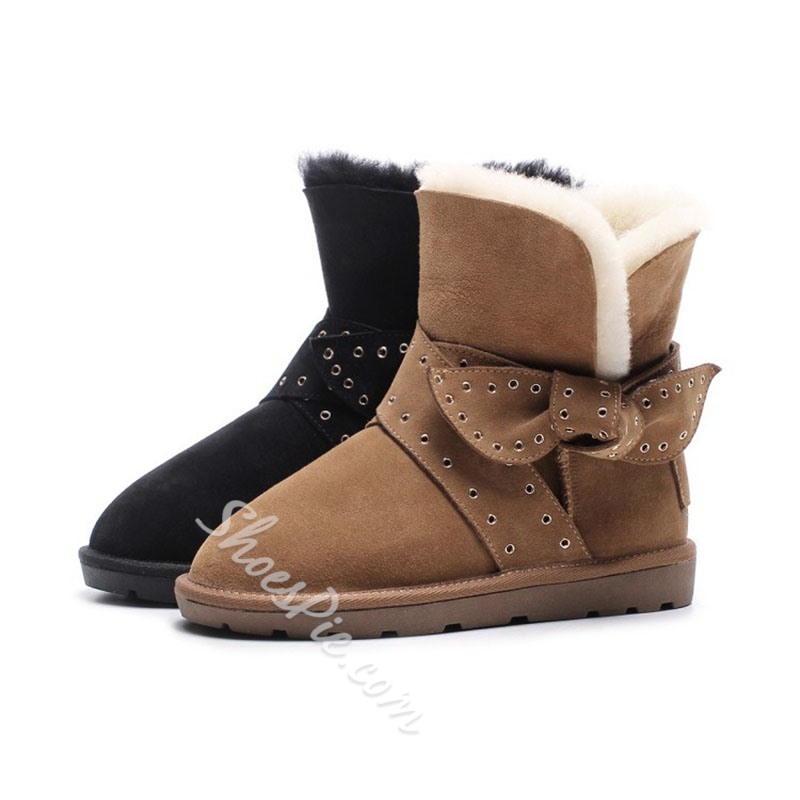 Shoespie Stylish Slip-On Round Toe Casual Boots