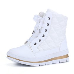 Shoespie Stylish Round Toe Color Block Side Zipper Casual Boots