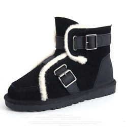 Shoespie Sexy Color Block Hasp Round Toe Korean Boots