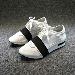 Shoespie Trendy Low-Cut Upper Thread Round Toe Casual Sneakers