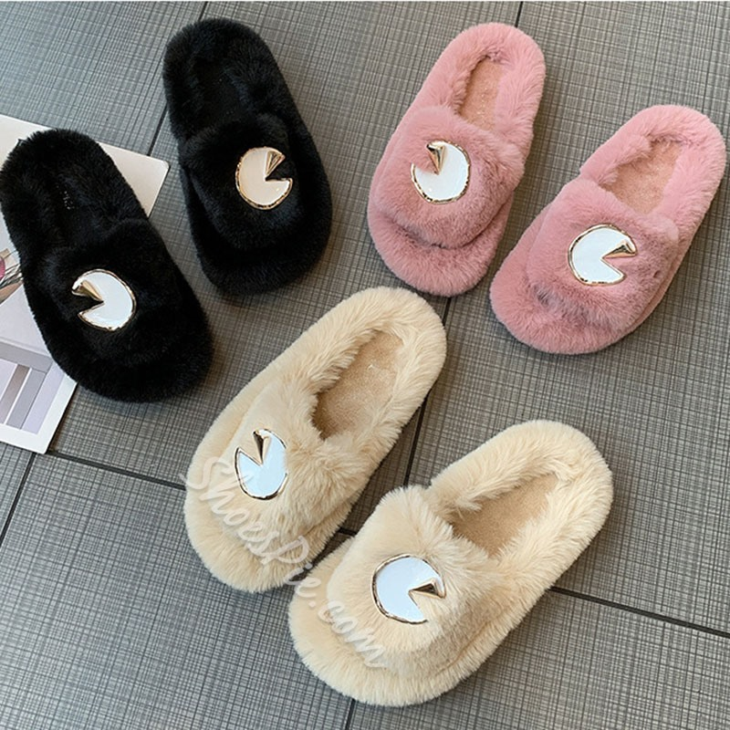Shoespie Trendy Slip-On Sequin Flat With Rubber Slippers