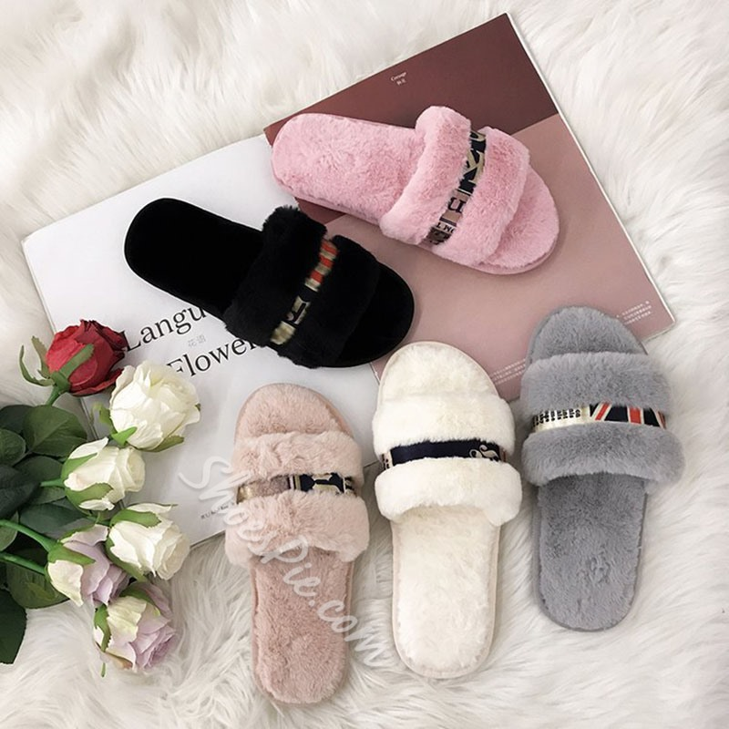 Shoespie Trendy Flat With Thong Slip-On Rubber Slippers