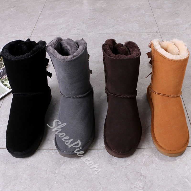 Shoespie Sexy Lace-Up Back Round Toe Casual Boots