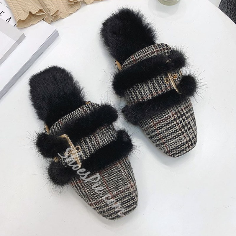 Shoespie Stylish Block Heel Slip-On Closed Toe Korean Slippers