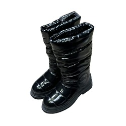 Shoespie Sexy Slip-On Round Toe Thread Boots