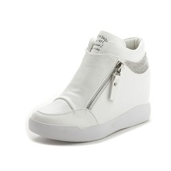 Shoespie Stylish Platform High-Cut Upper Round Toe PU Sneakers