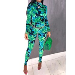 Color Block Full Length Skinny Women's Jumpsuit