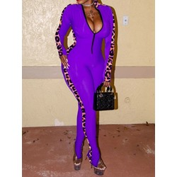 Full Length Sexy Leopard Skinny Women's Jumpsuit