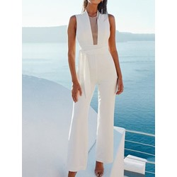 Full Length Patchwork Skinny Women's Jumpsuit