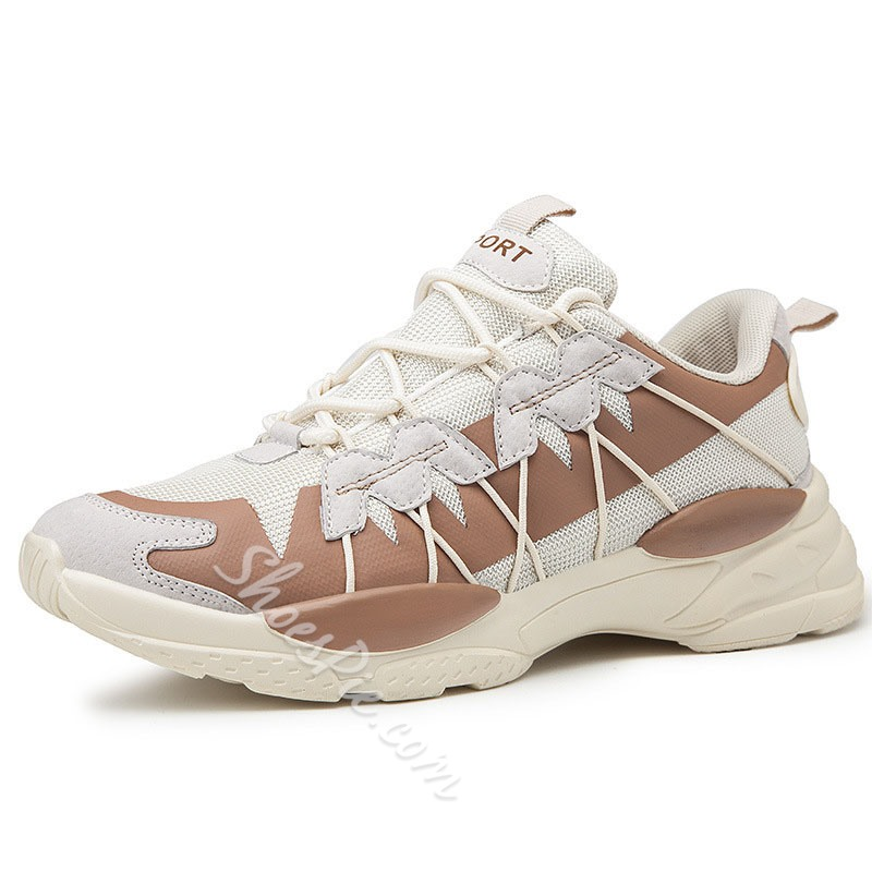 Shoespie Men's Sports Lace-Up Low-Cut Upper Sneakers