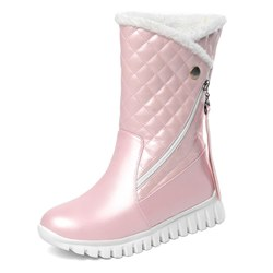 Shoespie Stylish Round Toe Plain Side Zipper Casual Boots