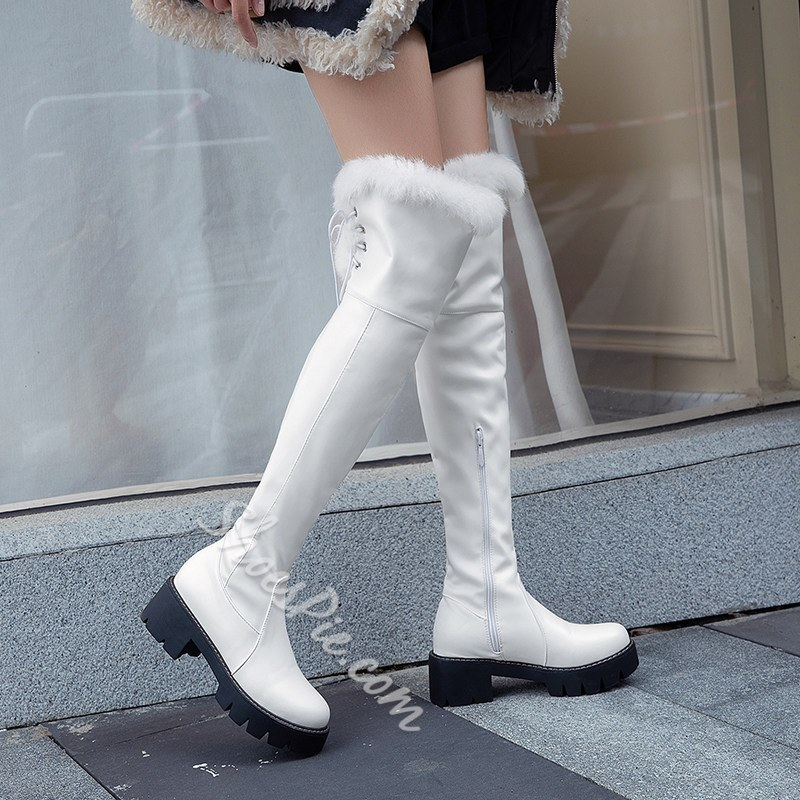 Shoespie Sexy Side Zipper Round Toe Plain Fashion Boots