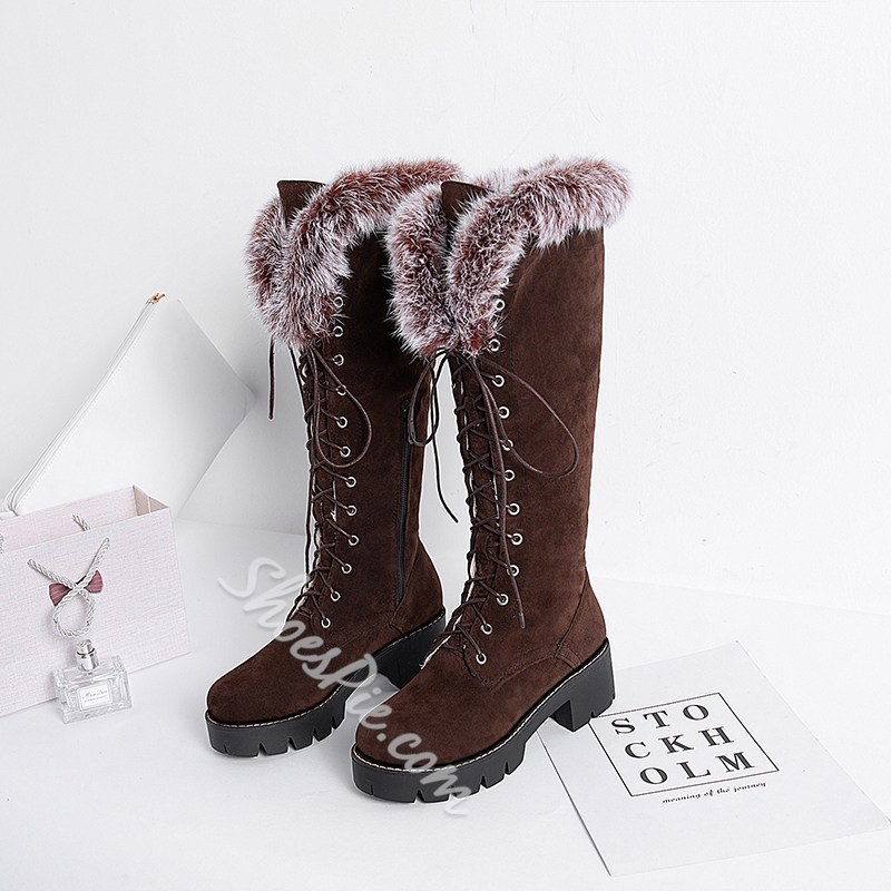 Shoespie Sexy Round Toe Side Zipper Casual Boots