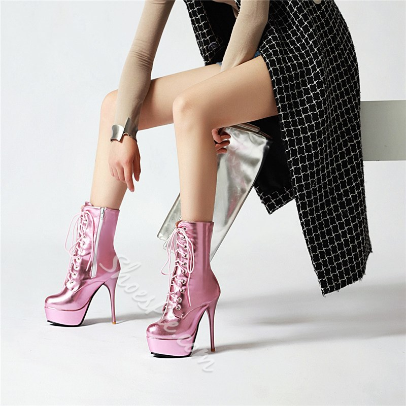 Shoespie Sexy Plain Round Toe Side Zipper Zipper Boots