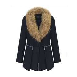 Plus Size Patchwork Loose Winter Women's Overcoat