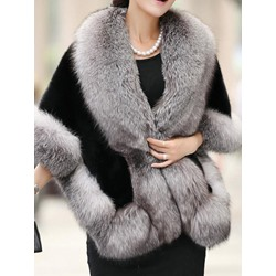 Elegant Plain Polyester Fall Women's Cape