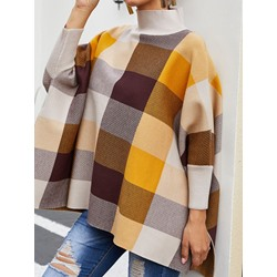 Color Block Polyester Western Fall Women's Cape