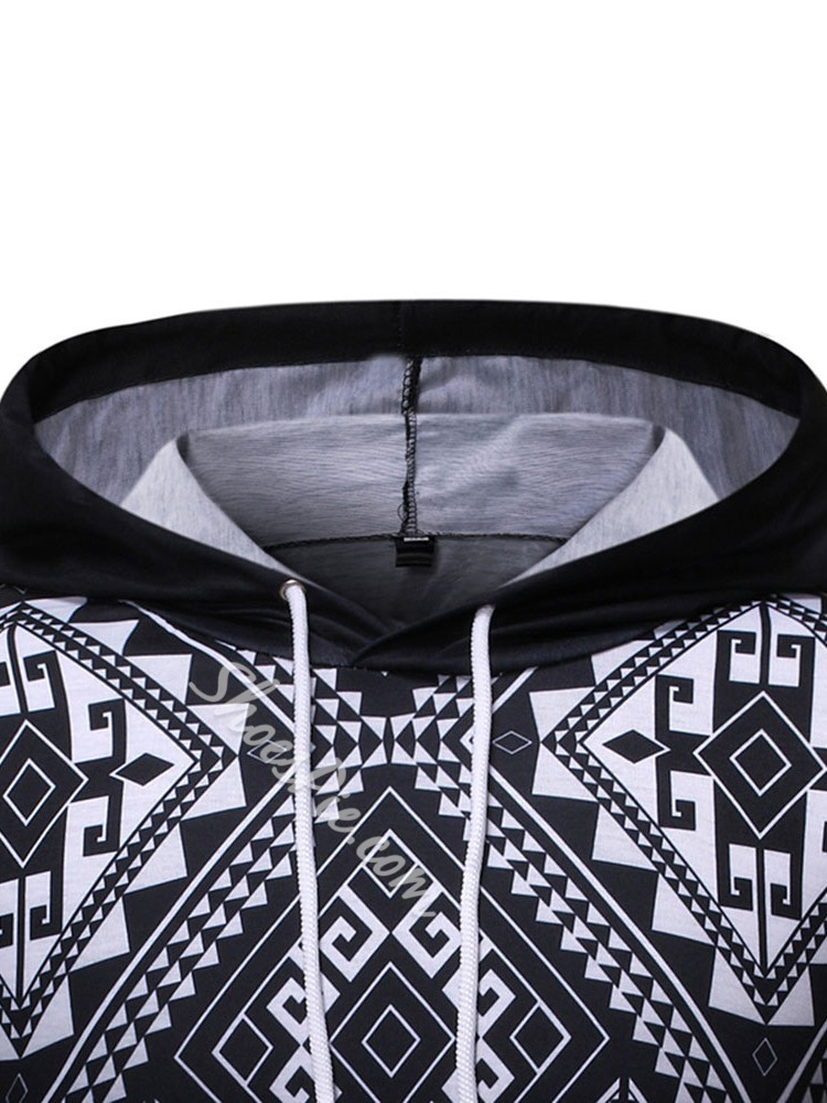 Pullover Color Block Pocket Pullover Slim Hoodies