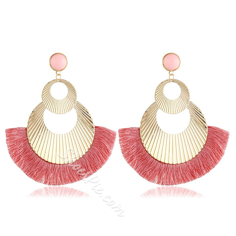 Tassel Alloy Bohemian Anniversary Earrings