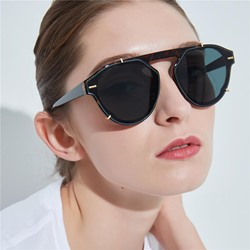 Vintage Resin Wrap Sunglasses