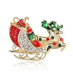 Alloy Animal European Christmas Brooches