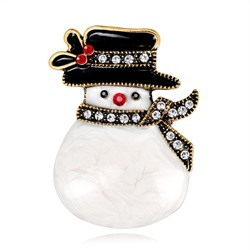 European Christmas Snowman Alloy Brooches