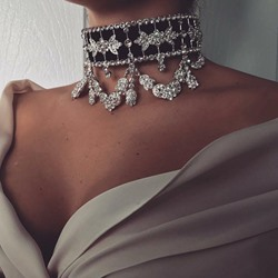 Diamante Choker Necklace European Female Necklaces
