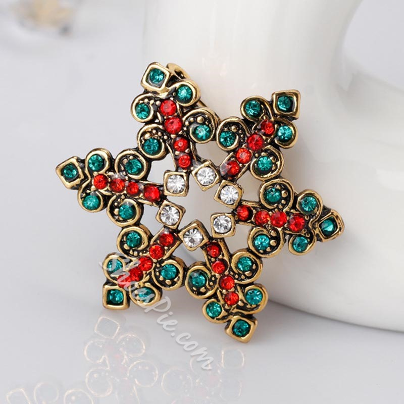 Alloy European Snowflack Brooches