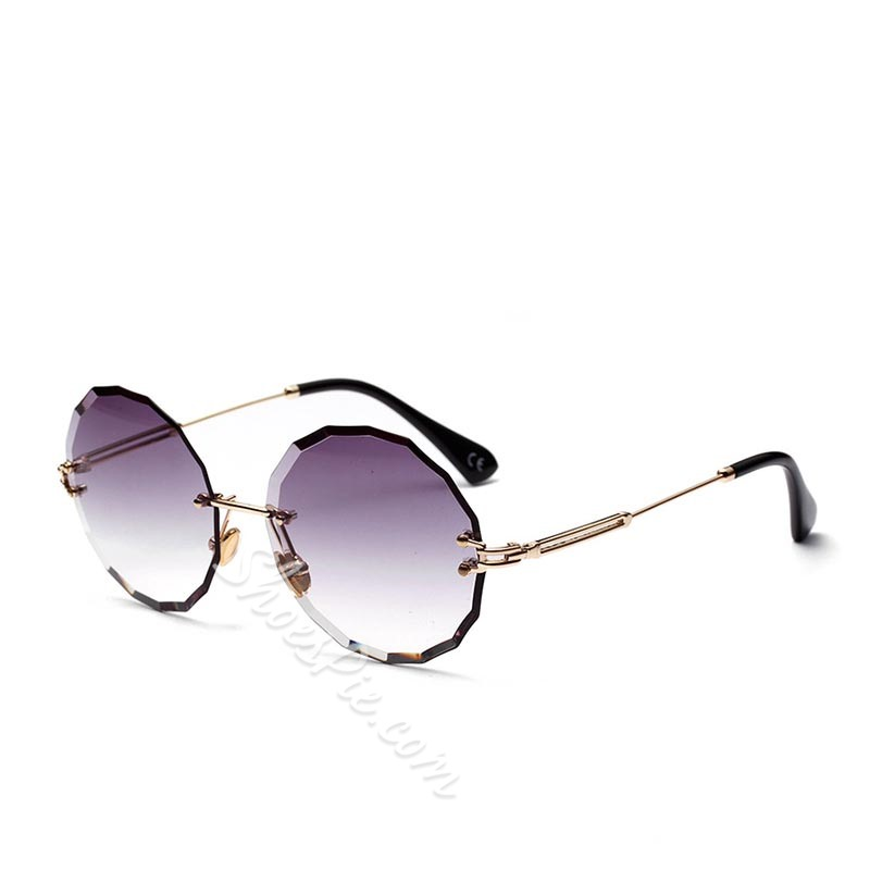 Vintage Round Resin Sunglasses
