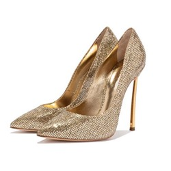 Shoespie Trendy Stiletto Heel Pointed Toe Rhinestone Sweet Thin Shoes