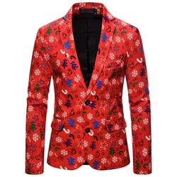 Casual Color Block Notched Lapel Leisure Blazer