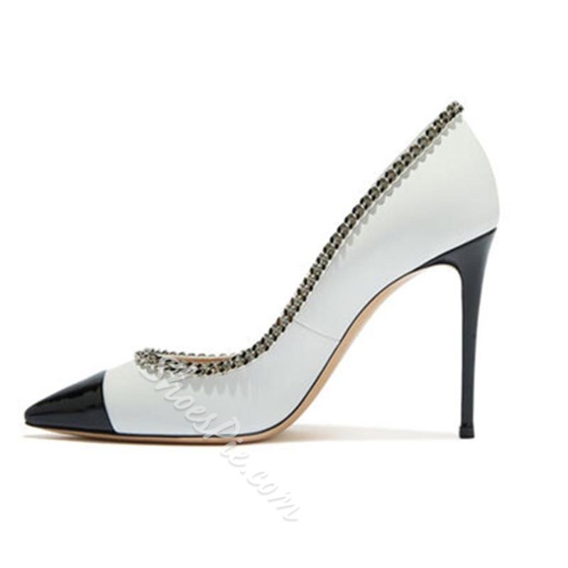 Shoespie Stylish Pointed Toe Stiletto Heel Thread Casual Thin Shoes