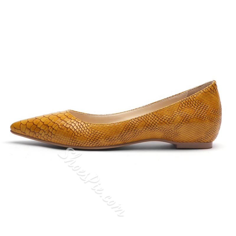 Shoespie Trendy Stiletto Heel Slip-On Serpentine Casual Thin Shoes