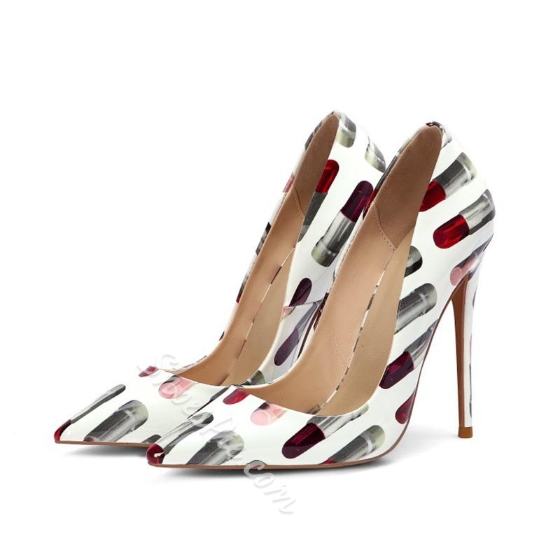 Shoespie Trendy Pointed Toe Stiletto Heel Color Block Low-Cut Upper Thin Shoes