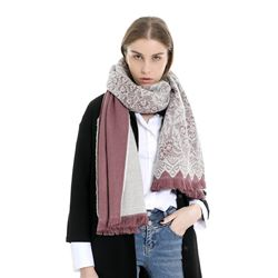 Acrylic Scarf Patchwork Color Block Scarves