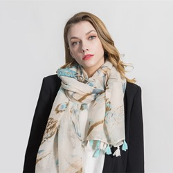Linen Scarf Print Scarves