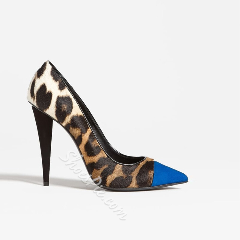 Shoespie Stylish Leopard Slip-On Stiletto Heel Pointed Toe Sexy Thin Shoes