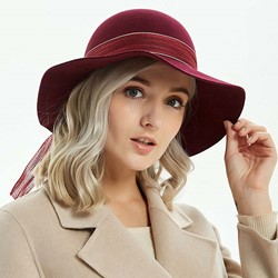 Wool Blends Bowknot British Fall Hats