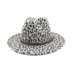 Fashion Wool Blends Print Spring Hats