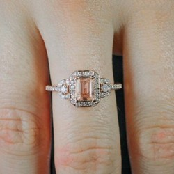 Romantic Diamante Wedding Rings