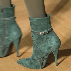 Shoespie Trendy Stiletto Heel Plain Pointed Toe PU Boots