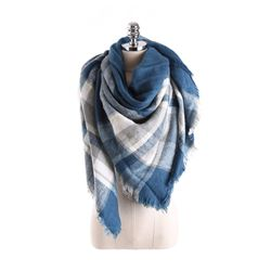 Imitation Cashmere Scarf Fashion Plaid Scarves