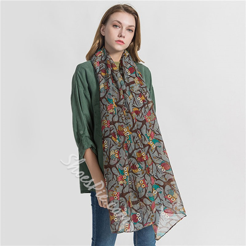 Scarf Voile Casual Cartoon Scarves