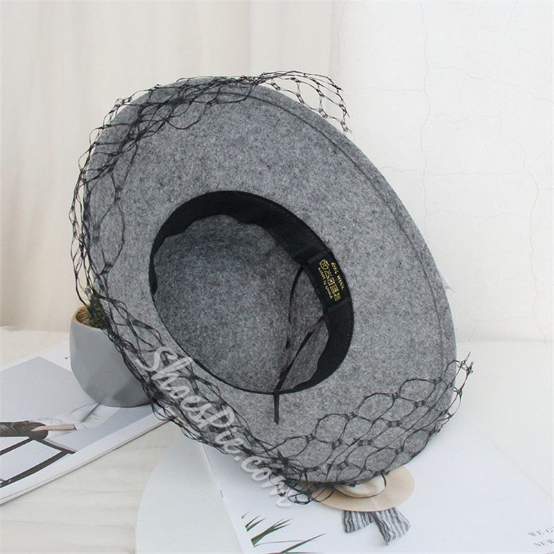 Mesh British Fedora Hat Spring Hats