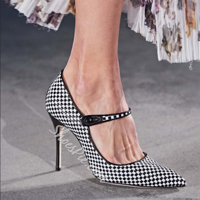 Shoespie Stylish Stiletto Heel Pointed Toe Thread Low-Cut Upper Thin Shoes