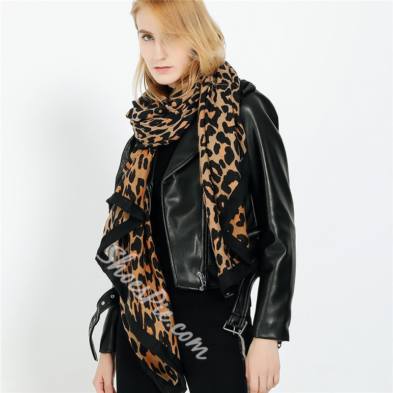 Fashion Print Scarf Leopard Scarves