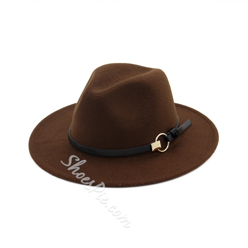Wool Blends Simple Fedora Hat Fall Hats
