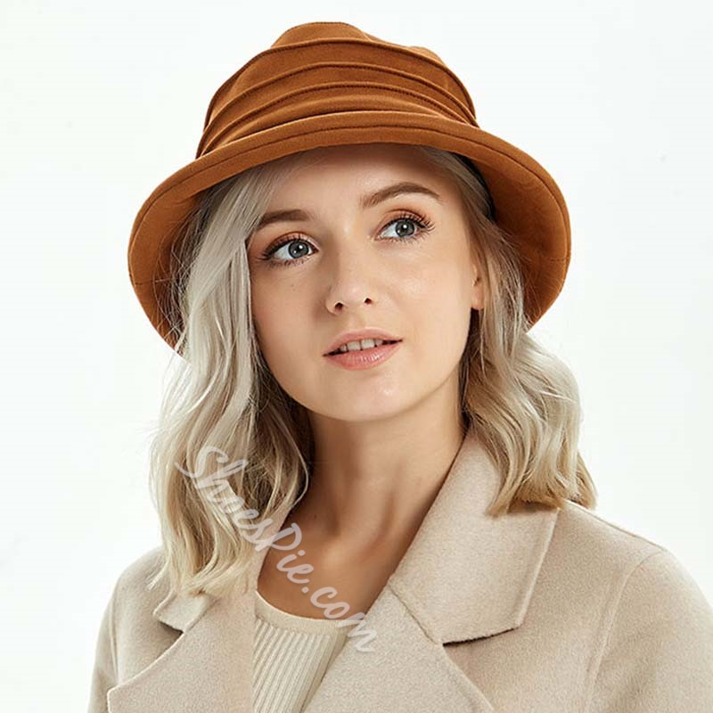 Casual Bucket Hat Suede Summer Hats